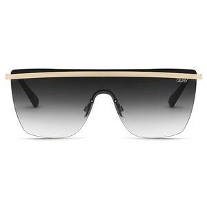 Quay Australia Get Right Rimless Sunglasses 54 mm